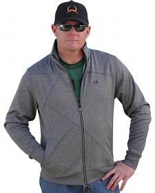 Cinch Athletic Heather Gray Abstract Stitch Zip-Up Jacket