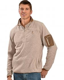 Browning Men's 1/4 Zip Oatmeal Pullover Sweater