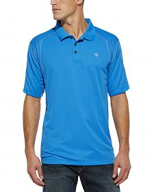 Ariat Brilliant Blue AC TEK Polo Shirt