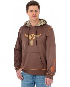 Wrangler 20X Brown Performance Drawstring Hoodie