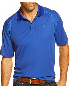 Ariat Men's Royal Blue TEK Short Sleeve Polo Shirt