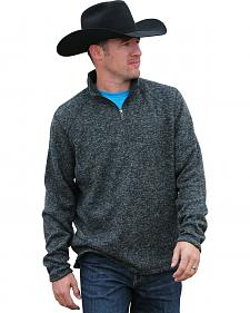 Cinch Men's Grey 1/4 Zip Fleece Sweater Pullover