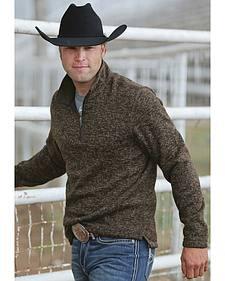 Cinch Men's Brown 1/4 Zip Fleece Sweater Pullover