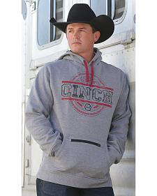 Cinch Men's Heather Grey Logo Fleece Hoodie