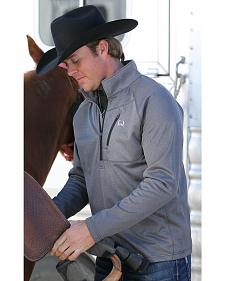 Cinch Men's Heather Grey 1/4 Zip Fleece Pullover