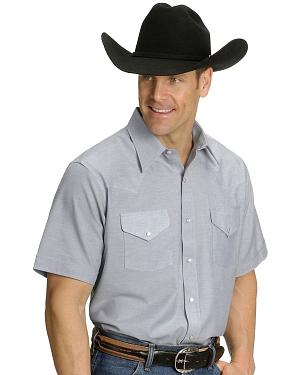 Ely Solid Oxford Western Shirt
