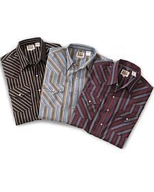 Ely Assorted Plaid or Stripe Short Sleeve Western Shirt