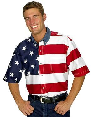 Roper Flag Print Shirt
