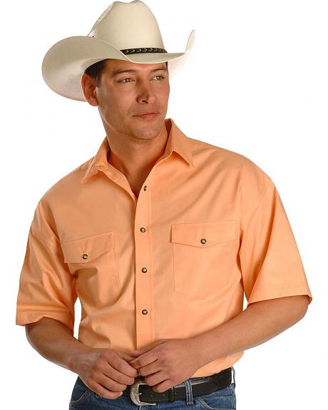 Panhandle Slim Short Sleeve Fashion Twill Western Shirt