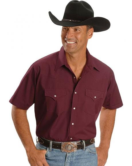 Ely Short Sleeve Fashion Classic Western Shirt - Reg