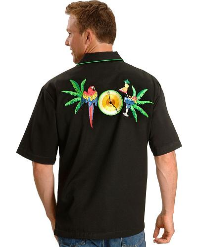 Scully Parrot Paradise Embroidery Retro Western Shirt $66.99 AT vintagedancer.com