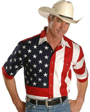 Rangewear by Scully USA Flag Western Shirt
