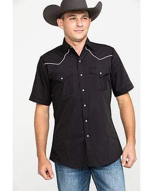 Ely Short Sleeve Black Western Shirt