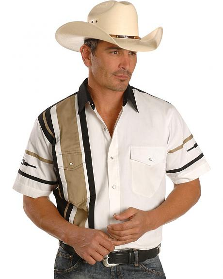 Cumberland Outfitters by Ely Black & Tan Colorblock Shirt - Reg