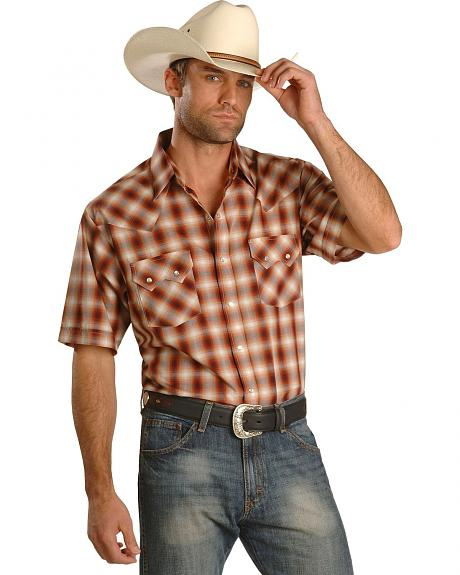 Short Sleeve Plaid Western Shirt