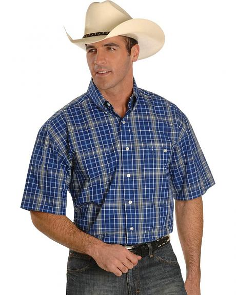 Wrangler George Strait Plaid Western Shirt