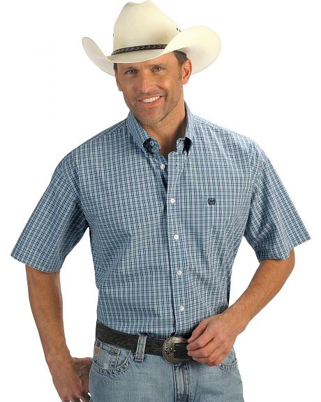 Cinch � Aqua Check Weave Shirt