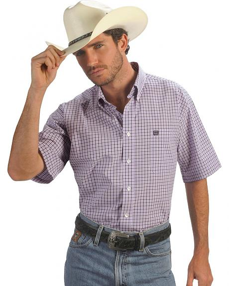 Cinch � Purple Check Weave Shirt