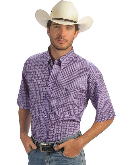 Cinch � Purple & Black Mini Paisley Shirt