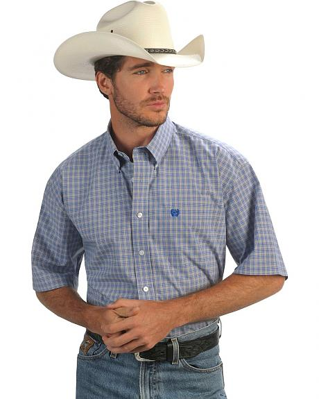 Cinch ® Grey & Blue Check Shirt