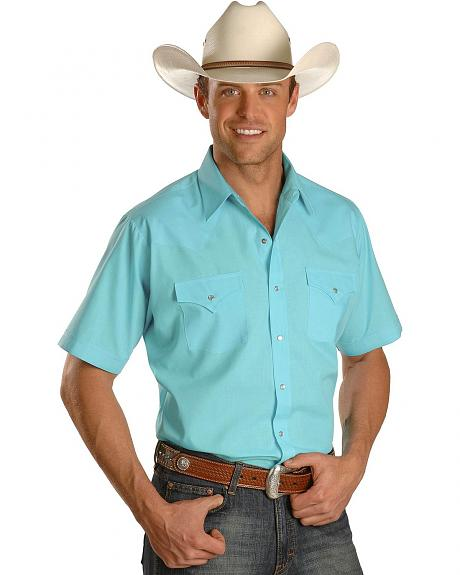 Ely Turquoise Classic Western Shirt