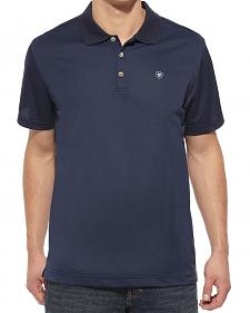 Ariat Navy Tek Polo Shirt