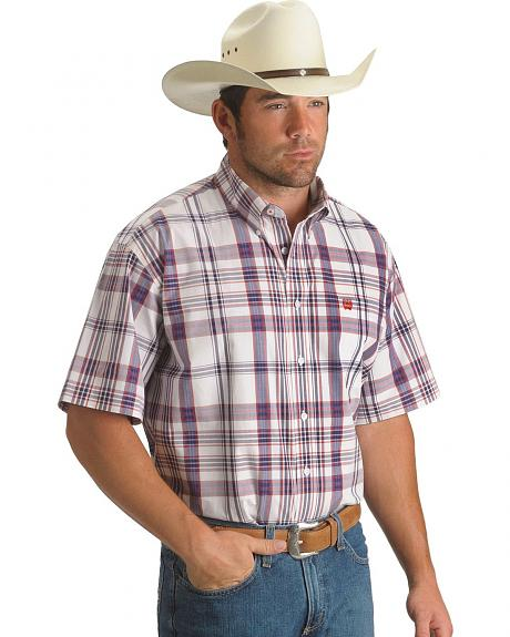 Cinch � Red & Blue Plaid Short Sleeve Shirt