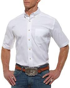 Ariat Solid White Poplin Shirt