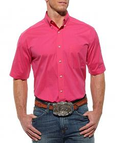 Ariat Solid Hot Pink Poplin Shirt