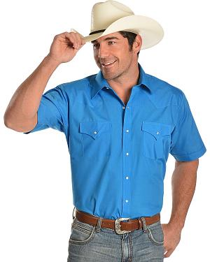 Ely Dark Turquoise Classic Western Shirt - Reg