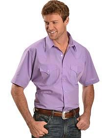 Ely Lavender Classic Western Shirt - Reg