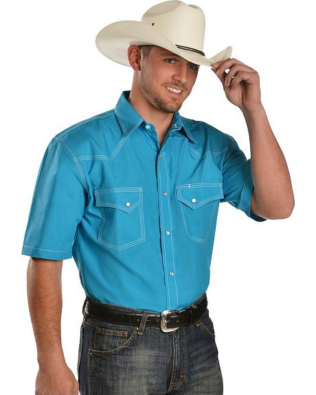 Red Ranch Triple Stitched Turquoise Shirt