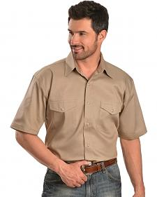Exclusive Gibson Trading Co. Tan Short Sleeve Western Shirt - Reg