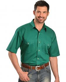 Exclusive Gibson Trading Co. Green Twill Short Sleeve Shirt - Reg