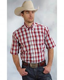 Roper Amarillo Collection Red Plaid Short Sleeve Shirt