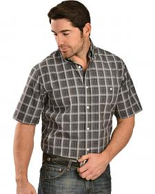 Gibson Trading Co. Grey Plaid Short Sleeve Shirt