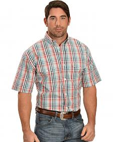 Exclusive Gibson Trading Multi-Colored Checked Short Sleeve Shirt
