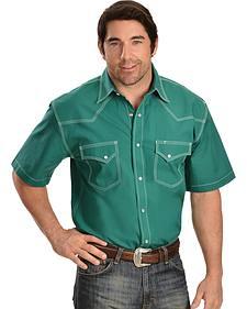 Red Ranch Green Short Sleeve Shirt