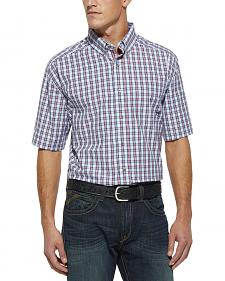 Ariat Navy Plaid Phillip Short Sleeve Shirt