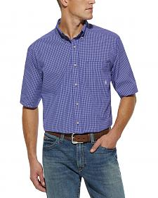 Ariat Tad Plaid Blue Shirt