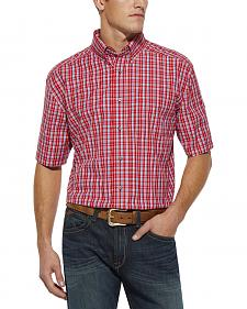 Ariat Van Plaid Red Shirt