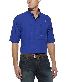 Ariat Blue Venttek Short Sleeve Shirt