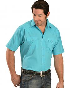 Ely Cattleman Classic Turquoise Western Shirt