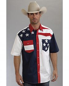 Roper Americana Collection Short Sleeve Stars and Stripes Western Shirt