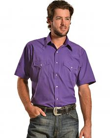 Ely Cattleman Men's Purple Classic Western Shirt
