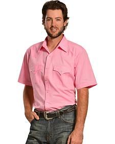 Ely Cattleman Men's Pink Classic Western Shirt