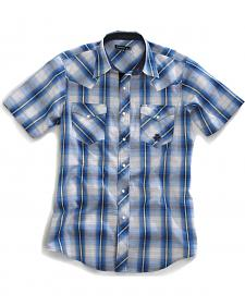 Tin Haul Men's Blue Note Ombre Short Sleeve Western Shirt