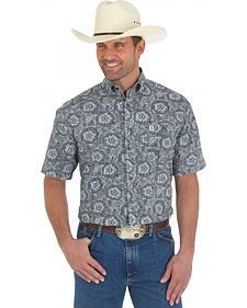 Wrangler George Strait Men's Short Sleeve Paisley Shirt