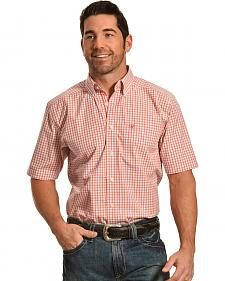 Ariat Men's Fitted Eldridge Plaid Button Short Sleeve Shirt