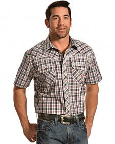 Ariat Men's Elliot Plaid Short Sleeve Western Shirt